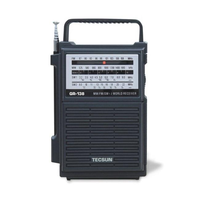 TECSUN GR-138 Цифровой FM/AM Радиоприемником Аварийный Фонарик Радио С Встроенный Динамик Руководство Производство Электроэнергии Рук Радио