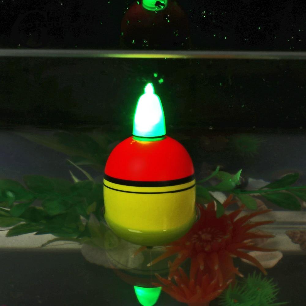 2pcs New Bobber Luminous Hot Light Stick Eva Foam Fishing Night Float Ball Boia