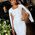Sexy White Straight Arabic African Knee Length Cheap Irina Shayk Cocktail Party Prom Dresses with Cloak Women Formal Vestidos