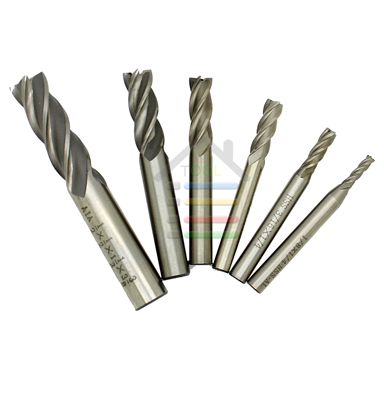 Free shipping 6pcs 1/8 3/16 1/4 5/16 3/8 1/2HSS CNC Straight Shank 4 Flutes Metal End Mill Cutter Wood Drill Bits 10pcs box 1 8 inch 0 8 3 17mm pcb engraving cutter rotary cnc end mill 0 8 1 0 1 2 1 4 1 6 1 8 2 0 2 2 2 4 3 17mm