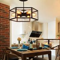 American Retro творческий ресторан свет кафе шестиугольная стеклянная коробка потолочный светильник стеклянный дом люстра