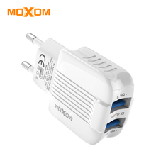 MOXOM USB Charger Dual USB Charger For iPhone Xs X 8 7 Fast Phone Charger for Samsung Xiaomi Huawei Wall Charger EU Adapter цены