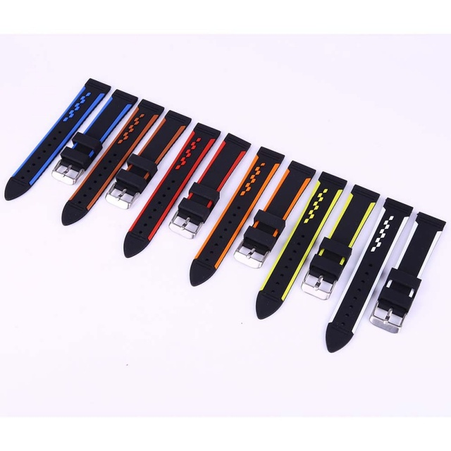 Waterproof Watch Band Strap Rubber Silicone Sport Wristband Bands Replacement