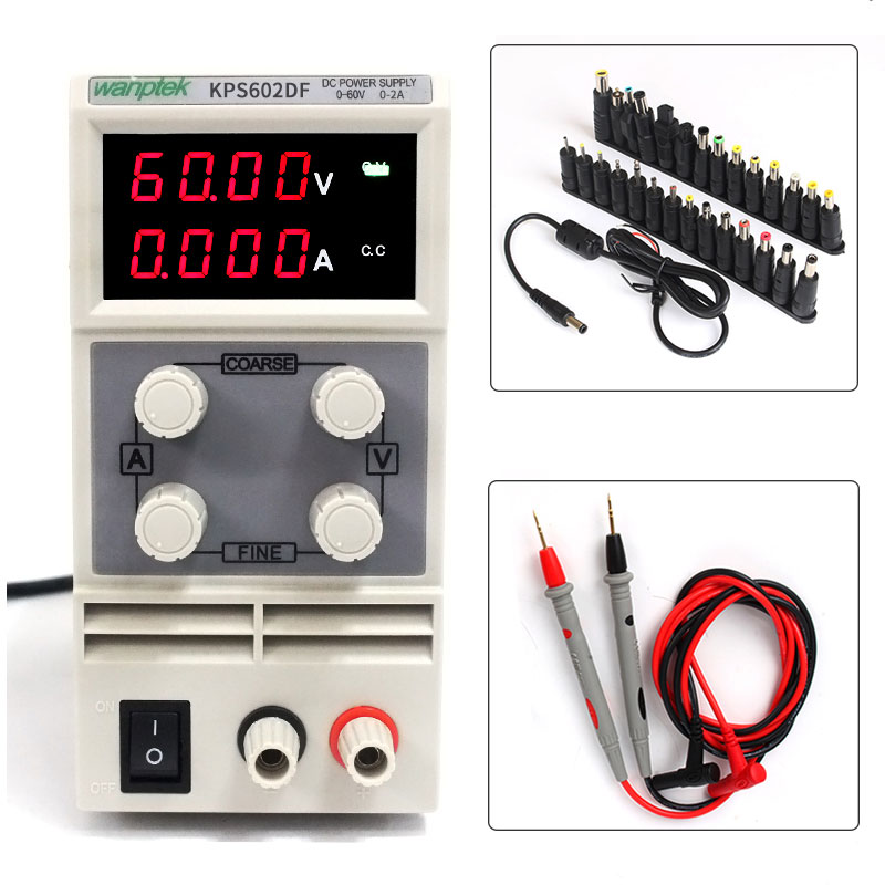 Laboratory equipment for maintenance of DC power supply variables, high-precision numerical display power, 0-60 V 0-2A numerical study of dynamic relaxation methods