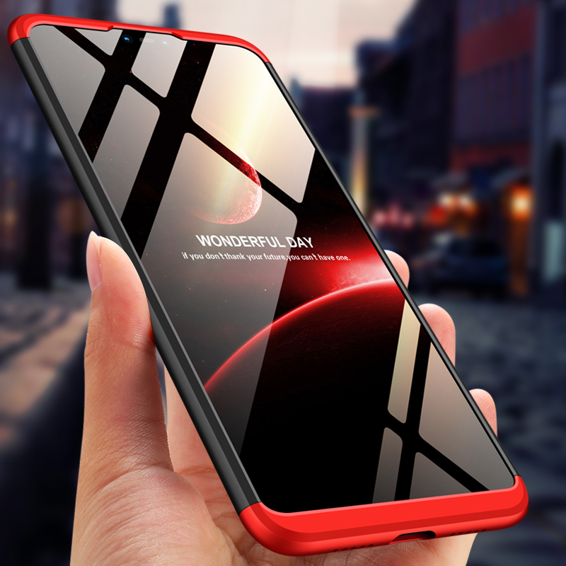 GKK 3 in 1 Case for Xiaomi mi 8 lite Case 360 All inclusive Shockproof Matte Hard Back Cover for Xiaom mi 8 Case Fundas in Fitted Cases from Cellphones Telecommunications