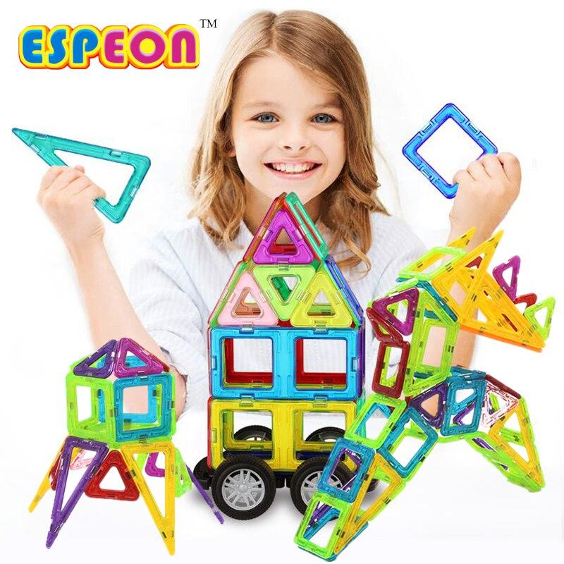 44 PCs Normal Size Magnetic Designer Construction Set Model & Building Toy Plastic Educational Magnetic Blocks Toys For Kids