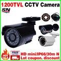Frete grátis HD 1/3 cmos 1200TVL ahdl pequeno Ao Ar Livre ip66 À Prova D' Água CCTV Segurança Mini Camera 24led IR infrared Visão noturna 30 m