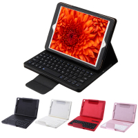 2 In 1 Portable Detachable Removable Wireless Bluetooth Keyboard PU Leather Stand Cover Case For Apple