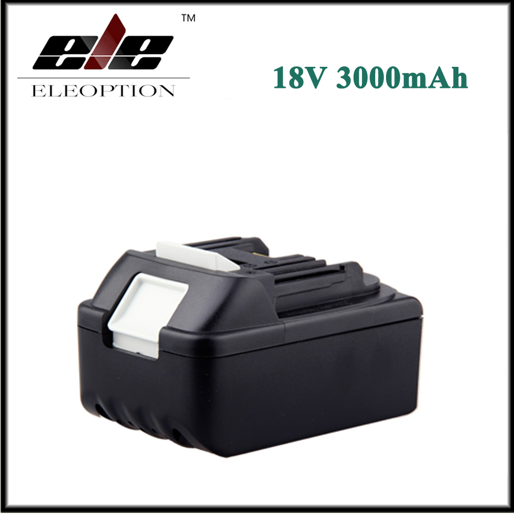 Eleoption 18V 3000mAh Battery for Makita 18 Volt BL1830 BL1840 LXT400 BL1815 194230-4 high quality brand new 3000mah 18 volt li ion power tool battery for makita bl1830 bl1815 194230 4 lxt400 charger
