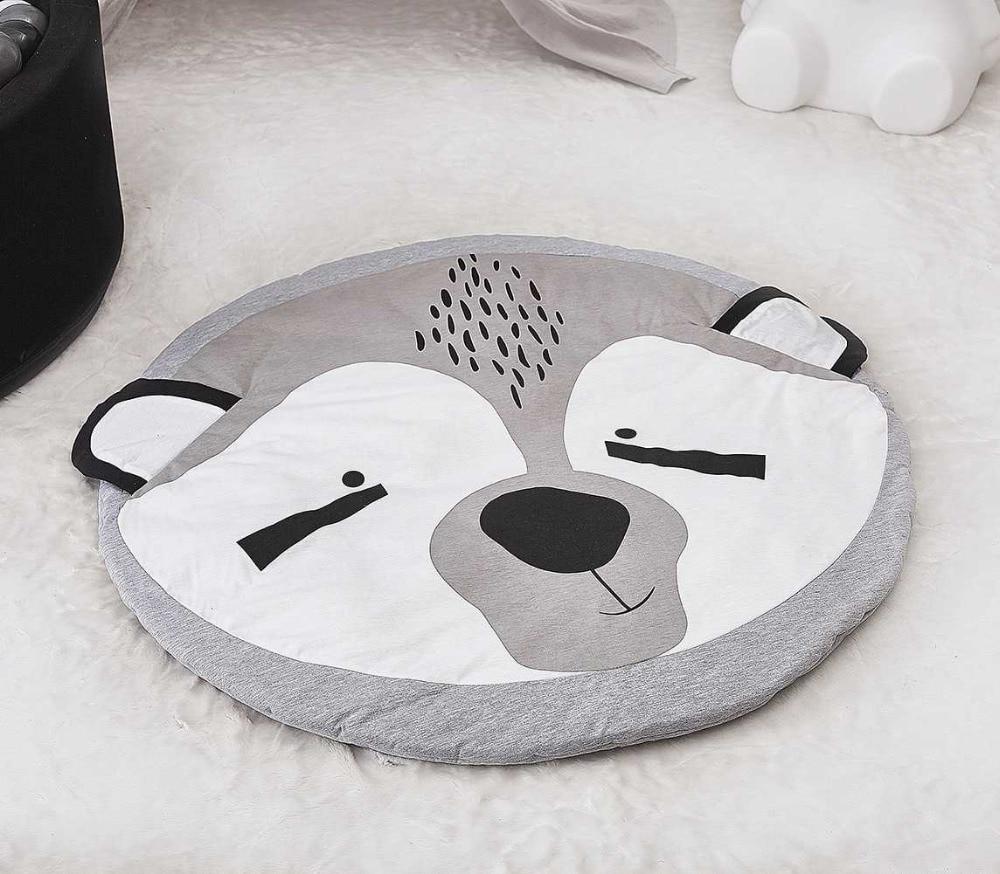 2017 cute animal Fox cotton game pad round carpet Soft Baby Crawling Mat Rug baby blanket