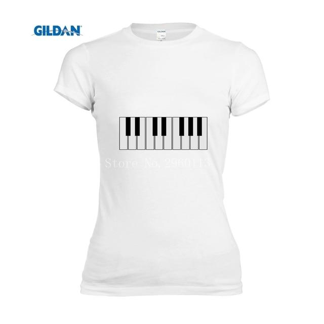 100% cotton Ladies piano keyboard fashion top for women clothing 2017 size-XL t shirt women brand woman tshirt