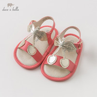 DB10247 Dave Bella summer baby girl sandals new born prewalkers infant shoes girl red sandals Princesss shoes