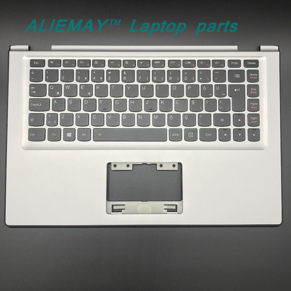 Laptop parts for LENOVO YOGA 2 13 Yoga2-13 SILVER Palmrest with Backlit TURKY Keyboard 90205154