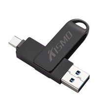 Kismo USB Flash Drive U Disk Pen Drive For Samsung S8 S9 Note 9 Huawei P10 P20 Mate 9 10 XiaoMi Mi6 Mi8 5X