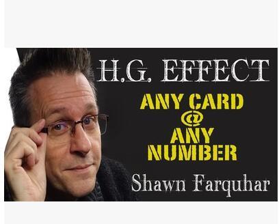 2017 H.G.Effect by Shawn Farquhar -magic tricks цена