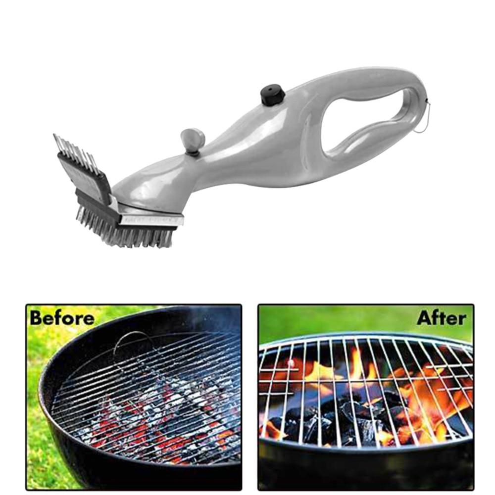 Barbacoa de acero inoxidable Barbacoas Limpieza Cepillos al aire libre Grill Cleaner con fuerza del vapor Barbacoas accesorios cocina Herramientas