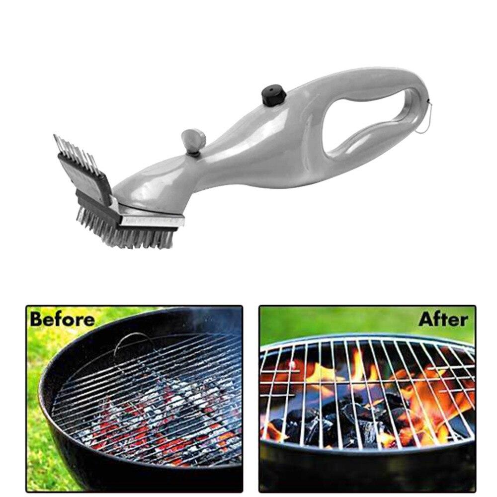 Barbecue In Acciaio Inox BBQ Spazzola di Pulizia griglia Churrasco Griglia Esterna Cleaner con Potenza del Vapore bbq accessori Strumenti di Cottura