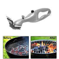 Churrasco de aço inoxidável escova de limpeza para churrasco churrasco ao ar livre grill cleaner com a potência do vapor acessórios para churrasco cozinhar ferramentas