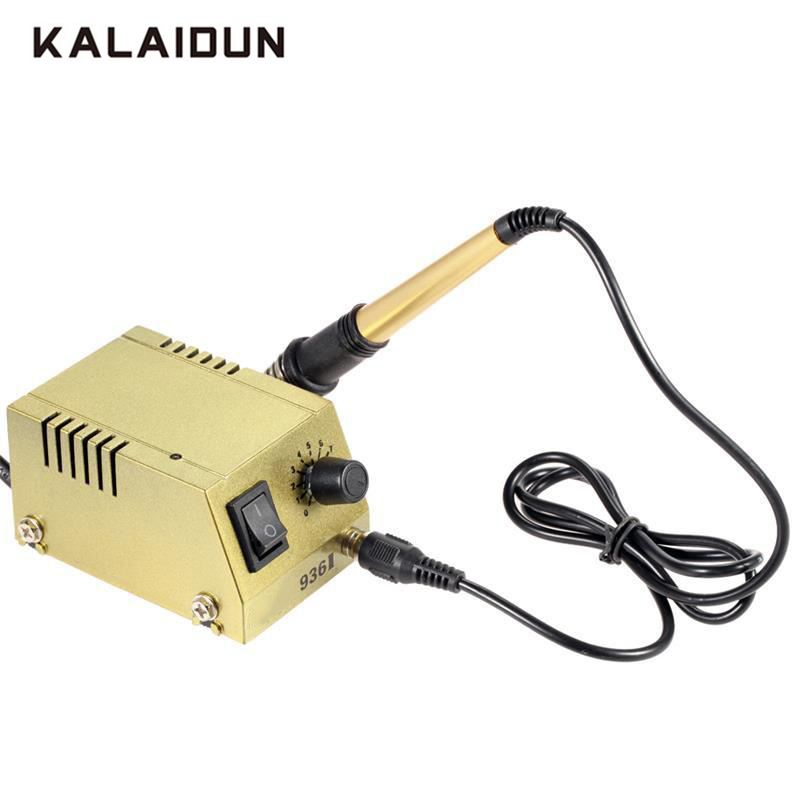 KALAIDUN Quick Heating Soldering Station Electronic Welding Iron EU/US 220V /110V Thermoregulator Soldering Iron Welding Tool