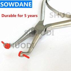 Dental autoclavable removedor alicate forcep para remover dentes temporários branqueamento folheados coroa dental temporária