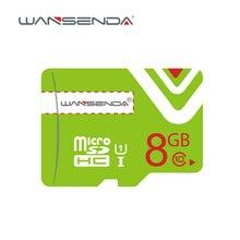 Высокое качество wansenda Micro SD Card 4 ГБ 8 ГБ 16 ГБ 10 класс 6 карты памяти бесплатная SD адаптер упаковки