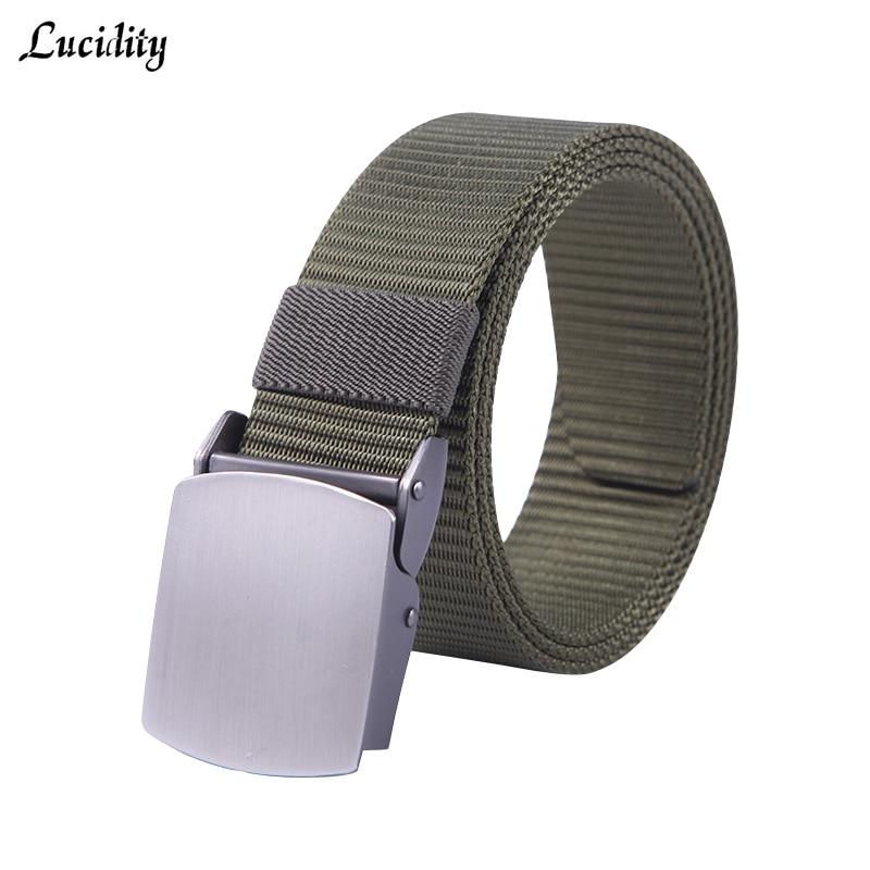Здесь продается  Lucidity Belts Brand Men Fashion Rice Color Designer Man Belt Smooth Buckle Prevent Allergy Unisex Canvas Belts  Одежда и аксессуары