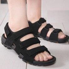 Высокое качество Нового Случайные Люди Сандалии Вьетнамские Обувь Черно-коричневый Плоские Туфли Лето Zapatos Плюс Размер 45 Светло-Пляж тапочки