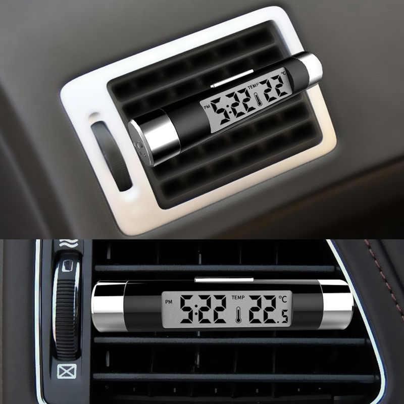 الهواء تنفيس منفذ سيارة ساعة ميزان الحرارة الخلفية الزرقاء ساعة لأودي A3 A4 A5 A6 A7 A8 B6 B7 B8 c5 C6 TT Q3 Q5 Q7 S3 S4