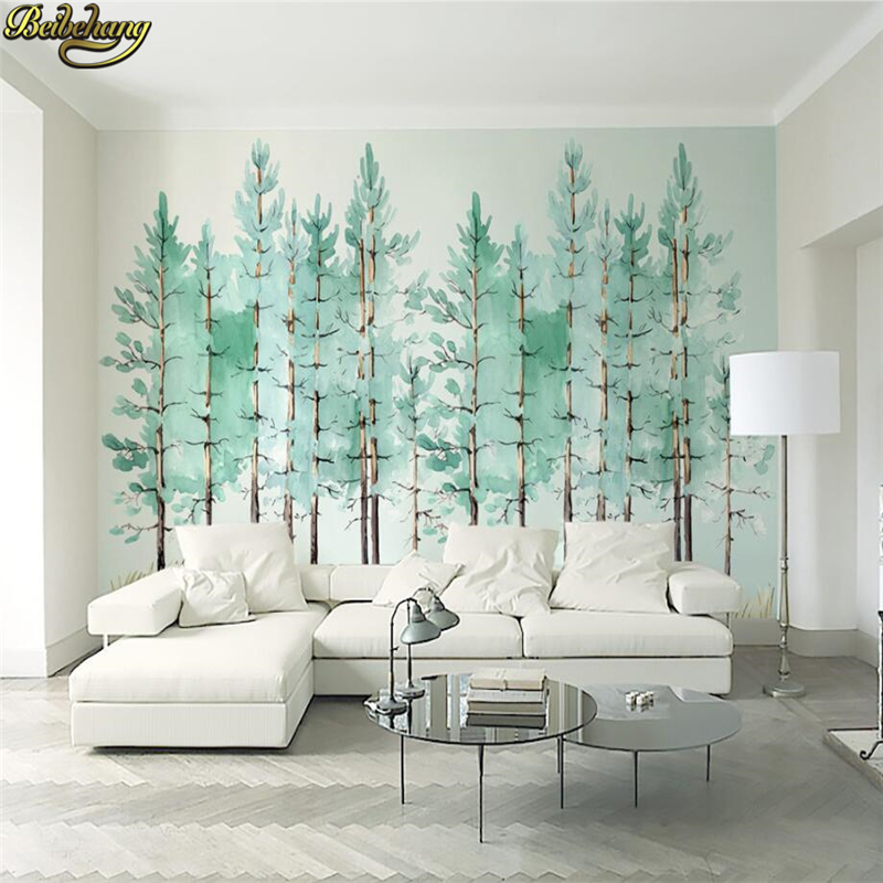 beibehang Nordic forest Photo Wallpaper 3D Landscape Mural Living Room Bedroom TV Sofa B ...
