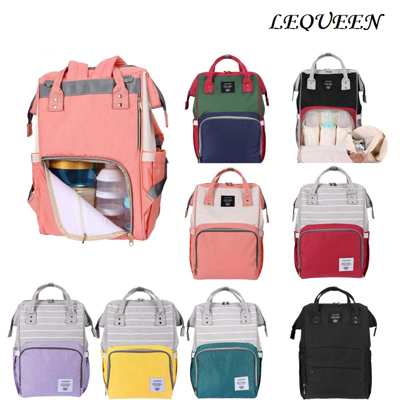 LEQUEEN Maternity Mummy Diaper Bag Baby Care Travel Outdoor Nappy Backpack Handbag Baby Bag Nursing BagTravel Backpack Designer lequeen maternity mummy diaper bag baby care travel outdoor nappy backpack handbag bag for mother backpack nappy changing bags