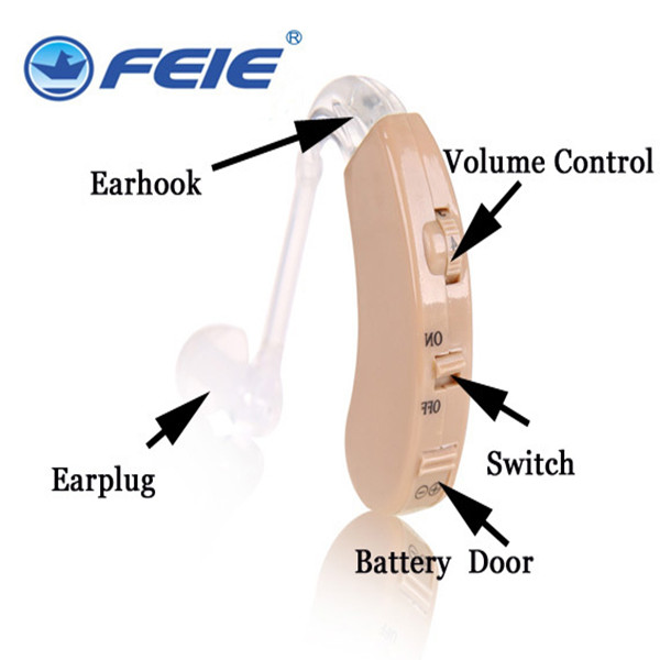 Deafness Listening Device In Ear Aid S-9C Powerful BTE Hearing Amplifier Hearing Aid Dropship guangzhou feie deaf rechargeable hearing aids mini behind the ear hearing aid s 109s free shipping