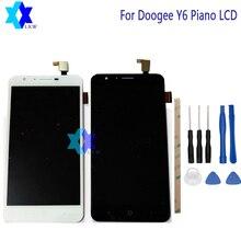 Продажа Для Doogee Y6 фортепиано ЖК-дисплей Дисплей + Сенсорный экран Панель цифровой Запчасти для авто сборки оригинальный 5,5 дюймов 1280×720 P наличии