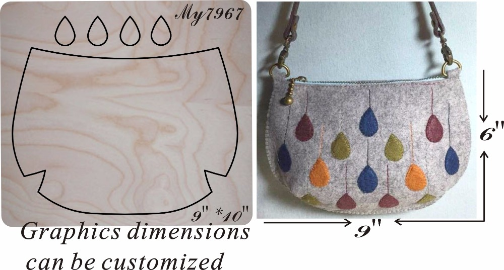 Water droplets hand bag new wooden mould cutting dies for scrapbooking Thickness 15 8mm