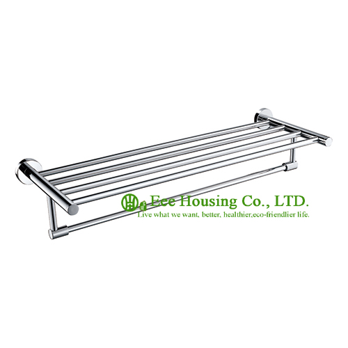 Free Shipping, Towel Rack, Wall Mounted Brass Chrome Finished Towel Rack