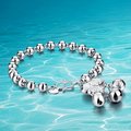 Hot sale! 925 Silver beads bracelet female;retro bracelet;925Sterling silver; New fashion design;
