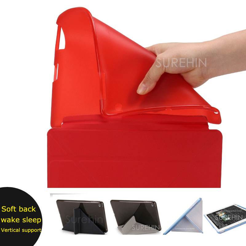 Good flexible soft tpu silicone pu leather silicone smart case for apple ipad 2 3 4