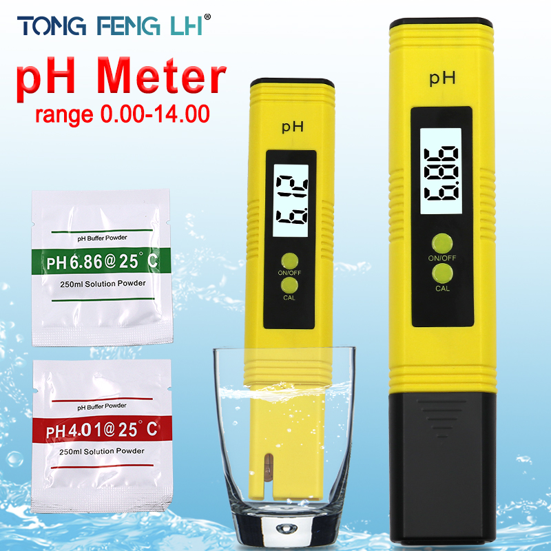 High Accuracy 0.01 LCD Digital PH Meter Tester For Water Food Aquarium Pool Hydroponics Pocket Size PH Tester Large LCD Display