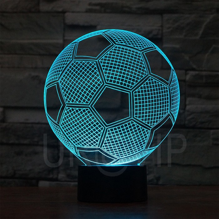 JC-2882 Amazing 3D Illusion led Table Lamp Night Light with football  shape (4)