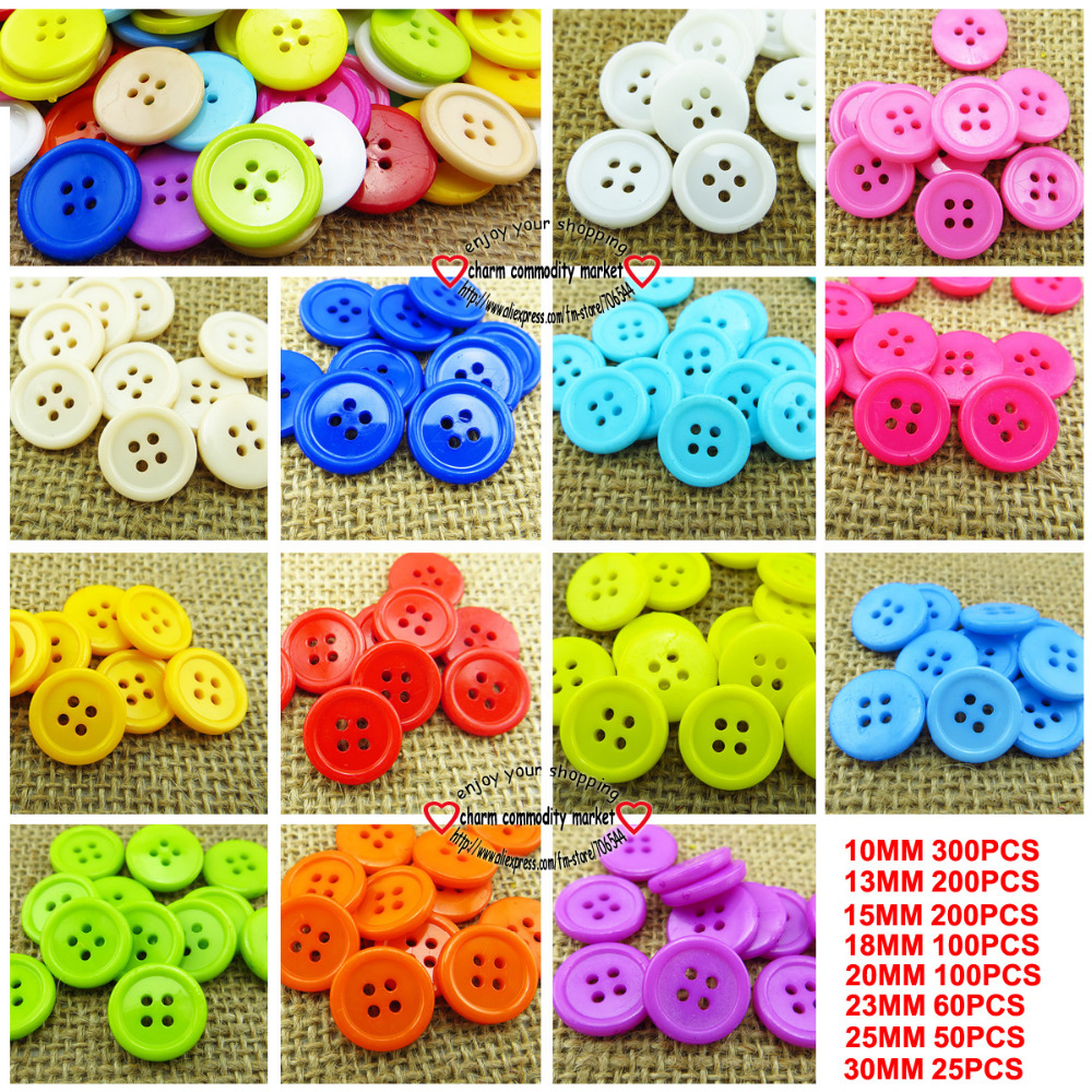 100PCS 4hole 15mm mixed plastic button for KIDS clothes fits jewelry craft P-088