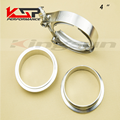 Kingsun 4'' Sus 304 Stainless Steel V Band Male And Female Flange Professional For Turbo/Exhaust Downpipes V Band Flange