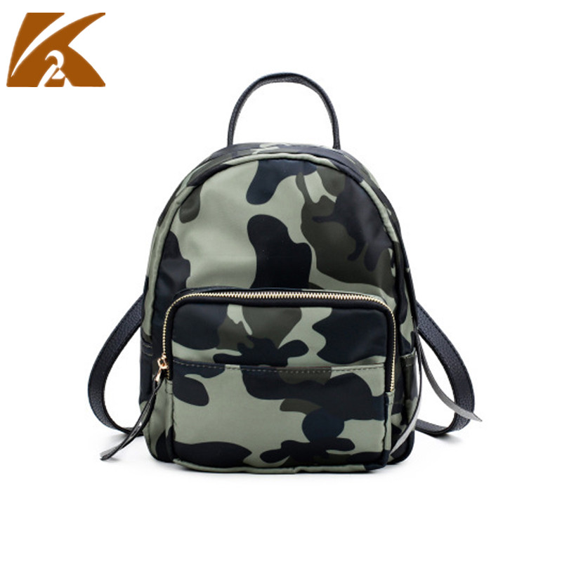 2018 Waterproof Oxford Rucksack Women Small Backpack Green Camouflage School Bags for Te ...