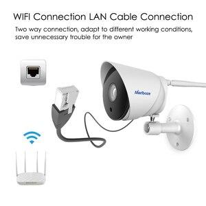 Image 3 - Marlboze cámara IP impermeable para exteriores, dispositivo de vigilancia de seguridad, con visión nocturna IR, 1080P, 64G, ranura para tarjeta