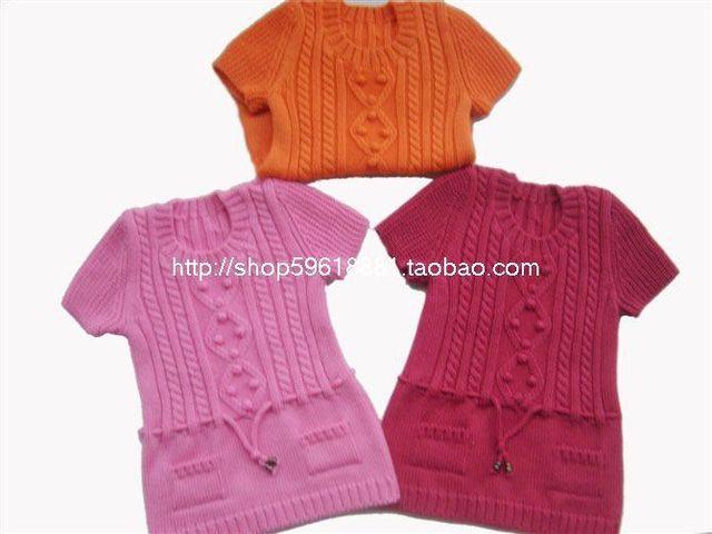 edea9505d autumn winter girl dress vest wool baby dress B05 Hand woven girls ...