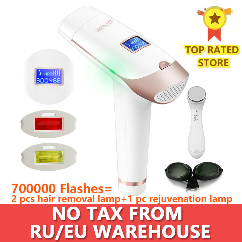 Lescolton 2in1 IPL Epilator Hair Removal LCD Display Machine T009i Laser Permanent Bikini Trimmer Electric depilador a laser(China)