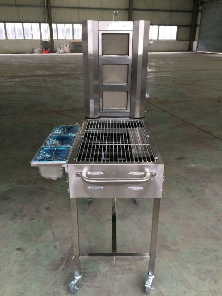 NEW design trolley bbq grill,hand-multifuction sharwarma machine &BBQ  machine (including grill