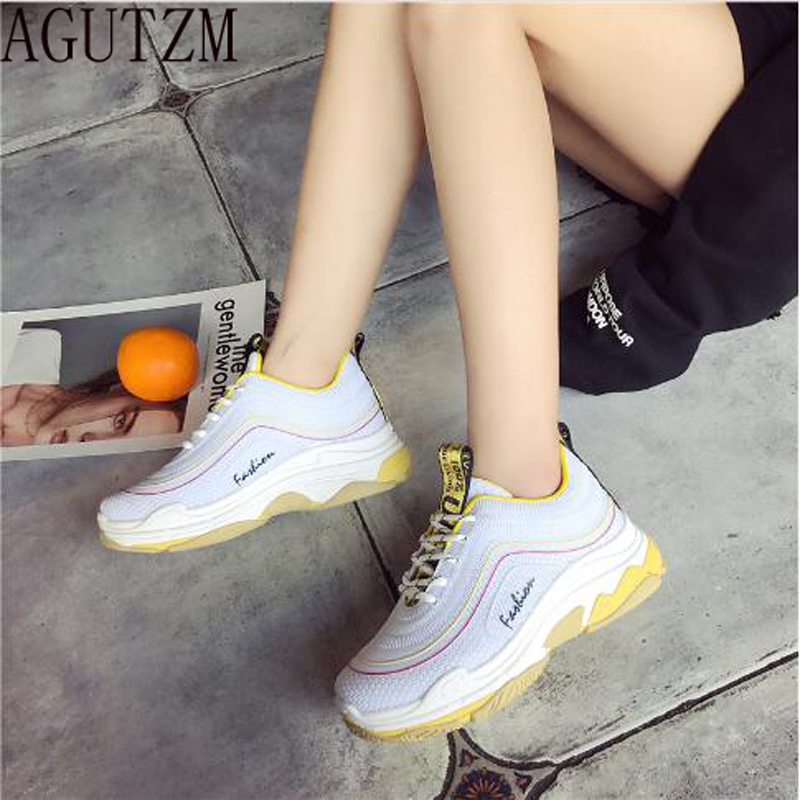 Platform Fashion Breathable Heighten Shoes Shoes Casual Basket Shoes Woman  Sneakers Women s Femme Feminino 2018 for ... 4a107e8f485c