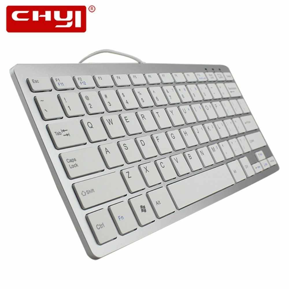 Super Tipis Mini Gaming Kabel Keyboard untuk Desktop PC Android Windows ios Telecommuting