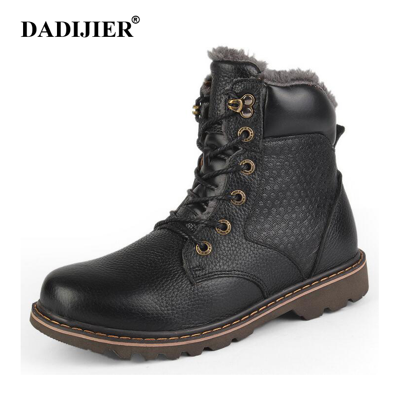 DADIJIER Natural Wool Men Winter Shoes Warmest Genuine Leather Handmade Men Winter Snow Boots wyq87DADIJIER Natural Wool Men Winter Shoes Warmest Genuine Leather Handmade Men Winter Snow Boots wyq87