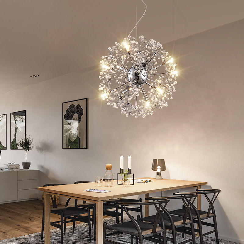 Modern LED chandelier Nordic restaurant illumination bedroom fixtures living room lights novelty lighting crystal hanging lamps