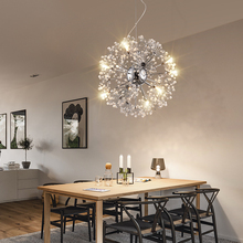 цена на Modern LED chandelier Nordic restaurant illumination bedroom fixtures living room lights novelty lighting crystal hanging lamps
